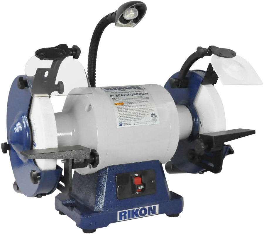 Rikon 8 Inch Professional Low Speed Bench Grinder