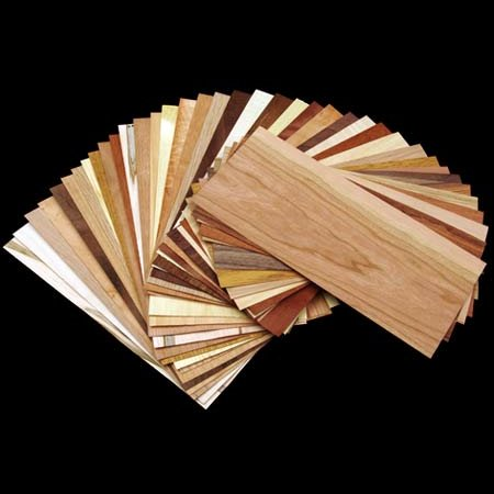 Domestic & Exotic Wood Veneer Sample Pack - 20 sf