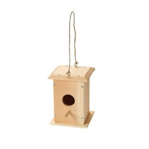 Red Toolbox Hanging Bird House Kit 301866