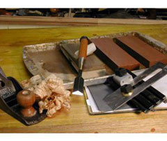 Sharpening woodworking tools videos