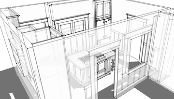 Sketchup Kitchen Design Glamorous Planning A Kitchen Renovation Using Sketchup Design Decoration