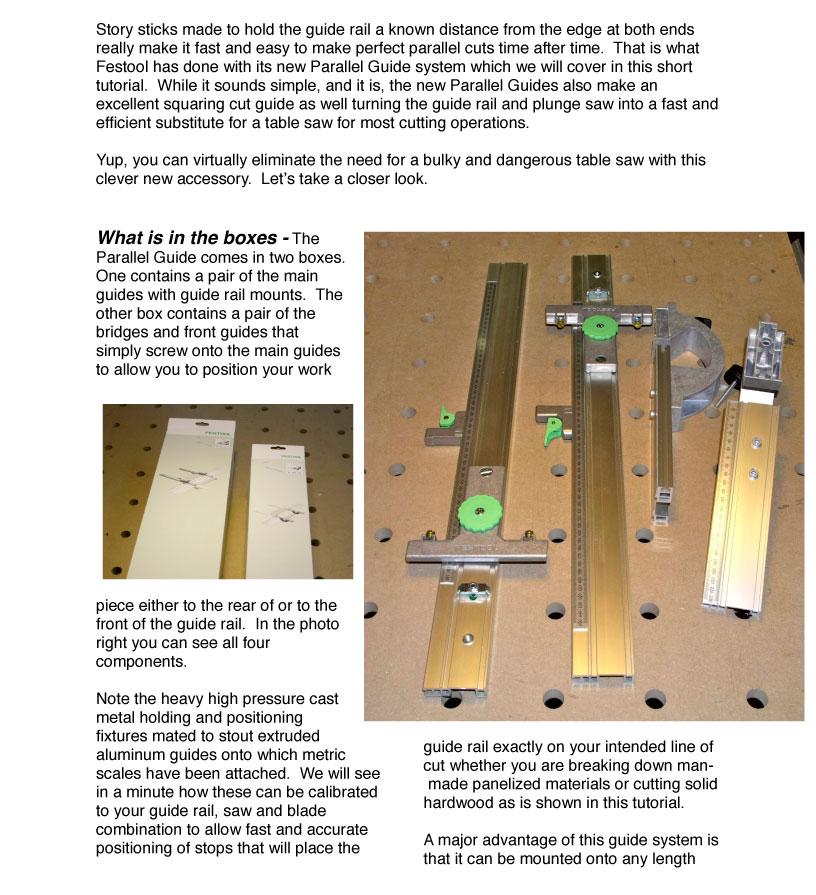 Festool Parallel Guide