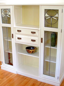Cabinet with Leaded Glass