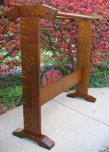 White Oak Quilt Rack
