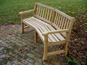 Garden Bench Built From Fallen Locust Trees