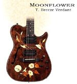 Moonflower, Inlaid Guitar by T. Breeze Verdant