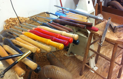 My Pile of Woodturning Tools