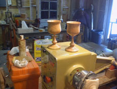 Turning Long Thin Stem Goblets