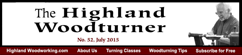 July 2015 Highland Woodturning News