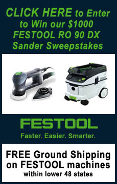 Enter to win the new Festool RO 90 DX Multi-mode Sander plus additional Festool