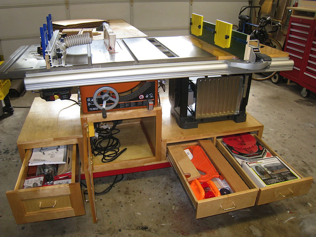 ridgid table saw router table