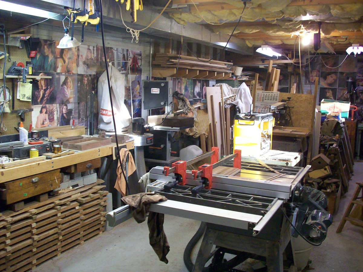 workshop organization | basement workshop