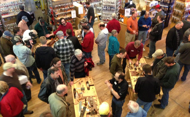 Crowds at the Highland Lie-Nielsen Hand Tool Event