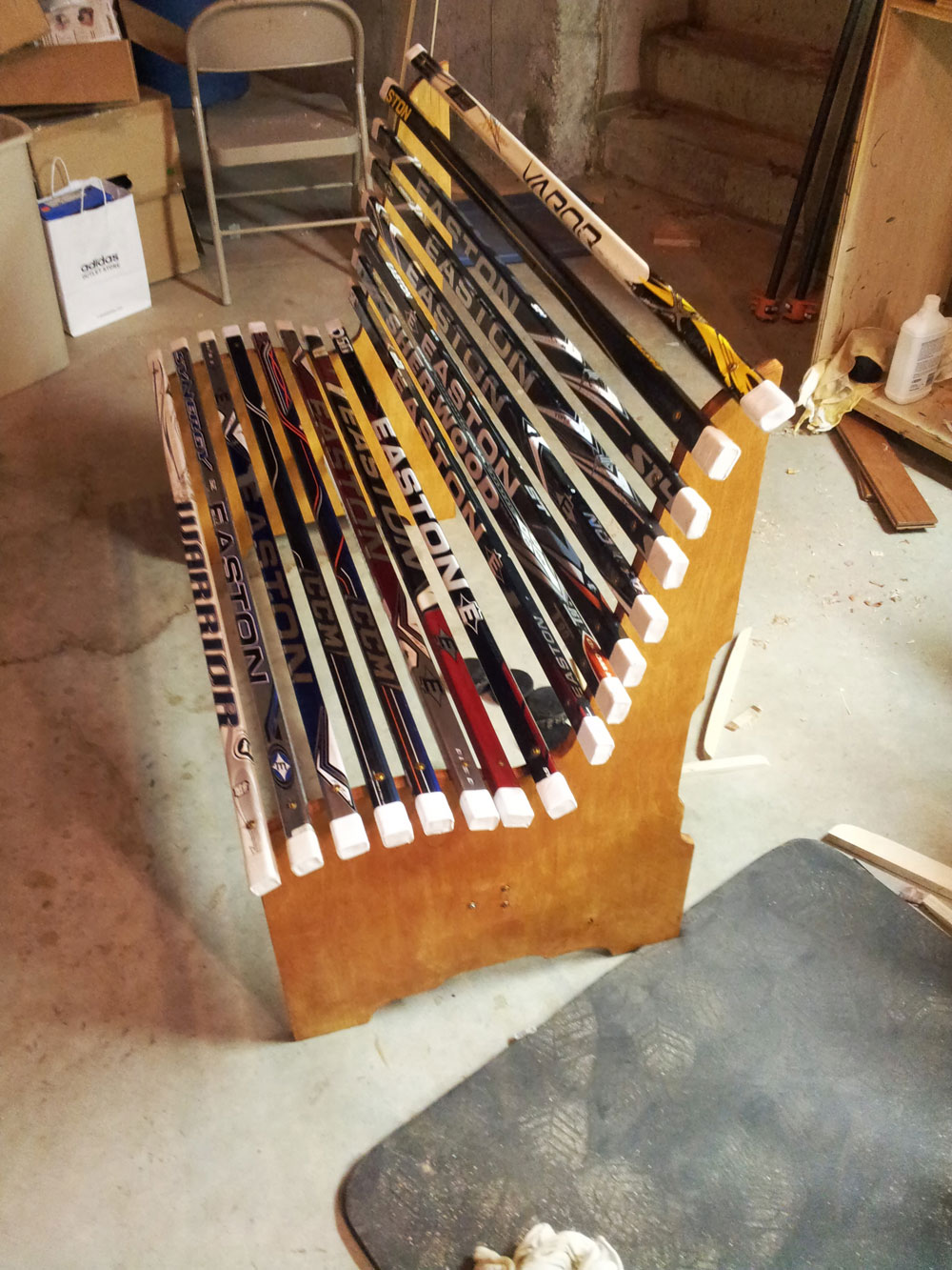 Project: Broken Hockey Stick Bench : Dan Zehner