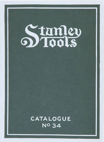 Stanley Tools Catalogue No 34