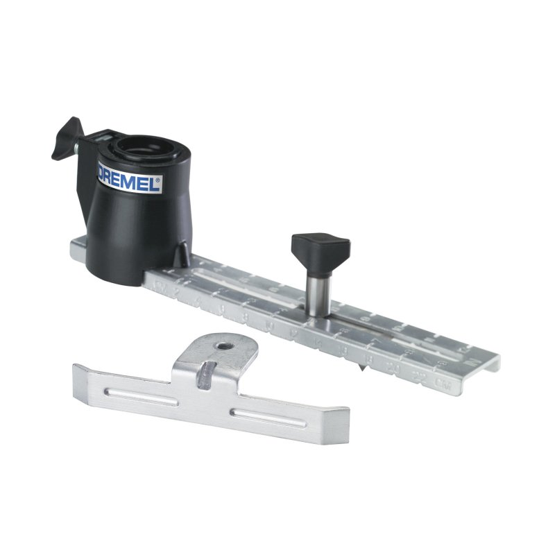 Dremel circle cutter and straight edge guide for Woodworking guide