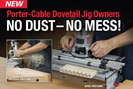Leigh VRS1200 Vacuum & Router Support for PORTER-CABLE 4200 Series Dovetail Jigs