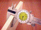 6 inch Woodworkers Fractional Dial Caliper