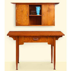Arts And Crafts Desk And Wall Cabinet Plan Woodworking Plans