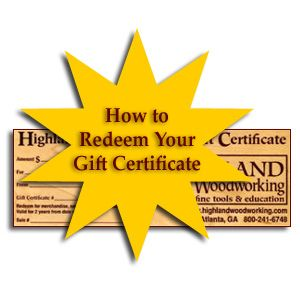 How to Redeem Your Gift Certificate REDEEM