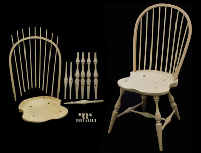 Bowback Side Windsor Chair Kit 178002