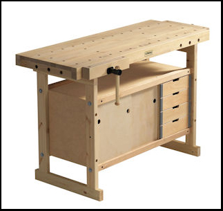 Sjobergs Scandi Plus 1825 Workbench with Free Cabinet