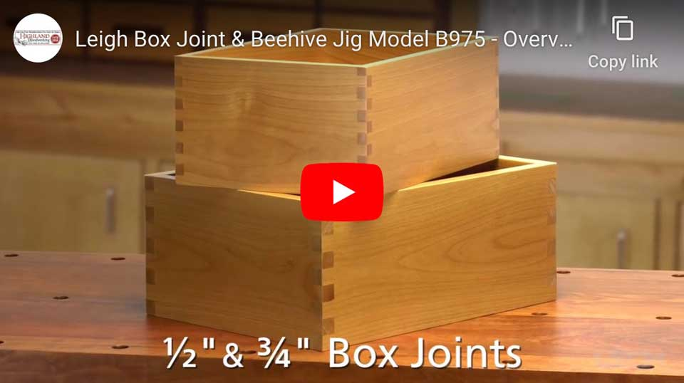 Make Boxes and Morewith the Leigh B975 Jig