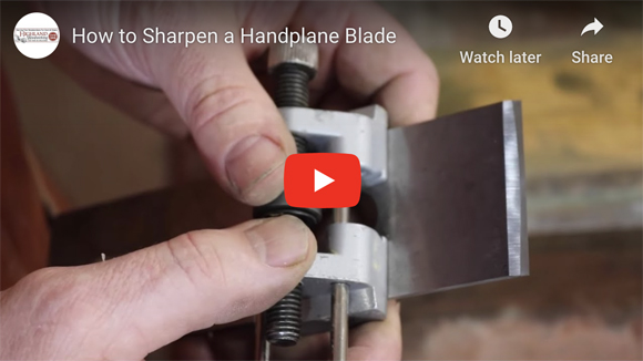 how to sharpen a hand plane blade