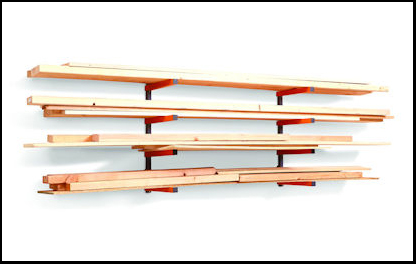 Bora Portamate 4-Shelf Lumber Storage Rack