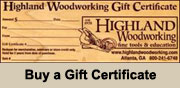 Woodworking Gift Certificate