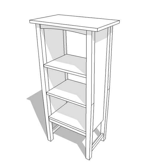 Model a No  72 Gustav Stickley Bookcase with SketchUp