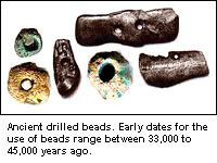 Ancient drilled beads