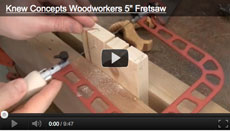 Knew Concepts Woodworker's Fretsaw Video