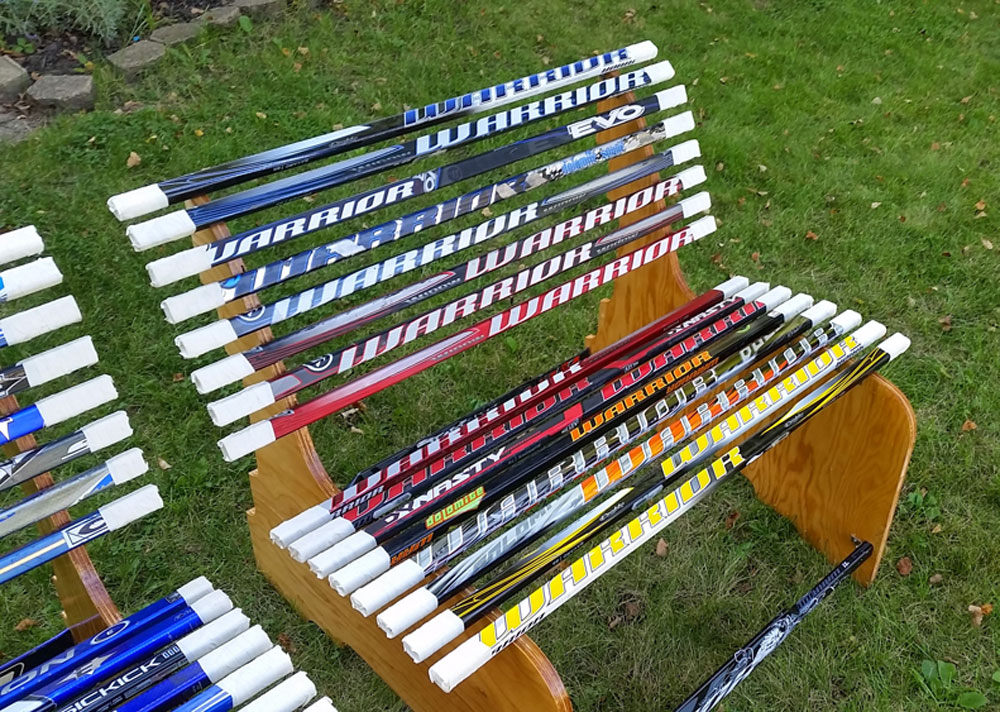 Project: Broken Hockey Stick Bench | Dan Zehner