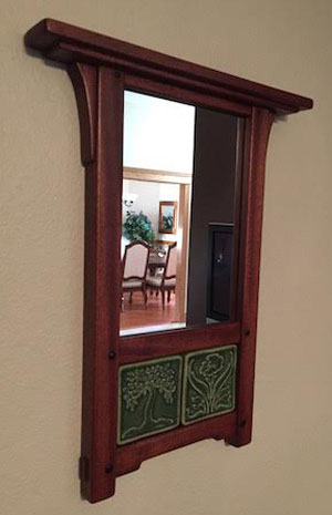 This Next Project Is A Mirror Frame With Two Handmade Craftsman Style Ceramic Tiles It S Made From Left Over Mahogany And Ebony Accents